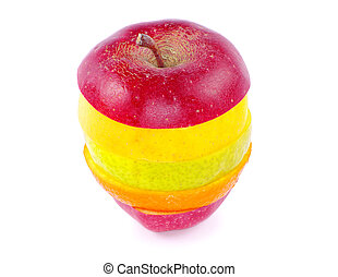 blandad, frukt