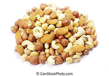 blandad, nötter