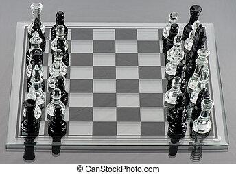 blandet, chess stykke