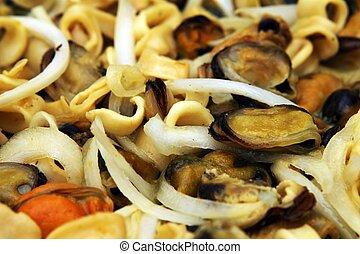 blandet, hav mad