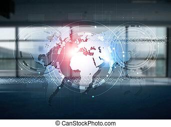 blandet, kommunikationer, internet, medier