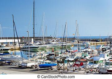 blanes, club, de, vela, yachts, bateaux, blanes.