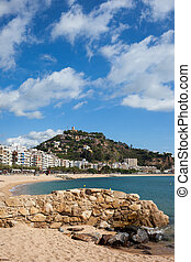 Blanes Resort Coastal Town On Costa Brava In Spain