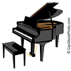 blank 2 - digital illustration of a piano