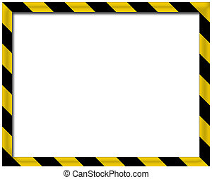 Blank 3D frame - Black and yellow 3D frame suitable to add...