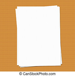 Blank A4 paper - Blank sheets of A4 paper on a desk. perfect...