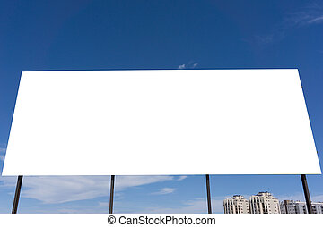 Blank Advertisement Board