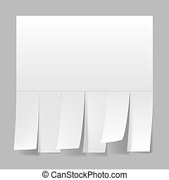 Blank advertisement with cut slips. Illustration on white ...