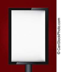 Blank advertising billboard on wall with copy space for your...