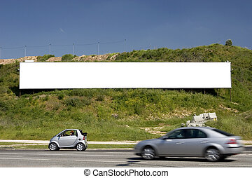 blank advertising billboard ready for your ad, one of the...