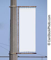 blank advertising billboard