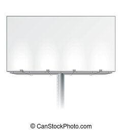 Vector illustration of a blank advertising billboard