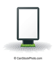 Vector illustration of a blank advertising billboard
