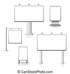 Blank advertising boards - Blank advertising sign outdoor...