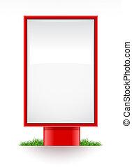 blank advertising stand citylight illustration, isolated on...