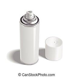 blank aerosol can