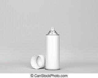 Blank aerosol tube mockup
