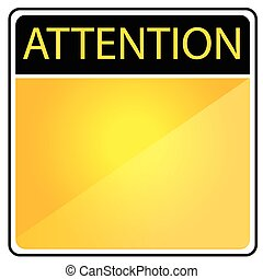 Blank Alert Sign