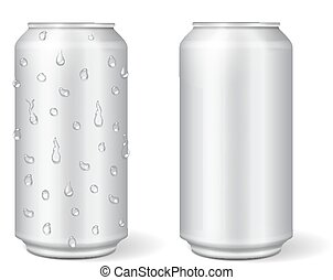 Blank aluminium can for lemonade or beer.