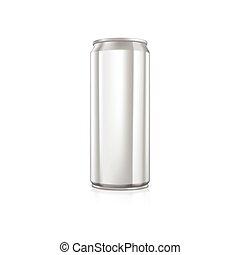 Blank aluminium can.