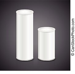 blank aluminum can set template