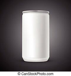 blank aluminum can template