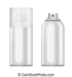 Blank aluminum spray can isolated on white background. Template bottle spray for design.