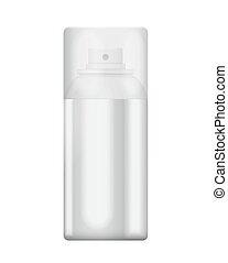 Blank aluminum spray