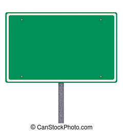 Blank American city limits sign over white background
