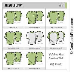 Blank Apparel Templates - Set 1 - These blank apparel...