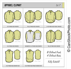 Blank Apparel Templates - Set 7 - These blank apparel...