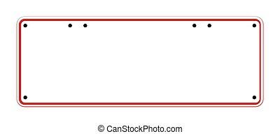 Blank Australian Registration Plate - A typical blank...