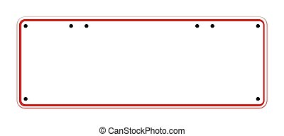 Blank Australian Registration Plate - A typical blank...