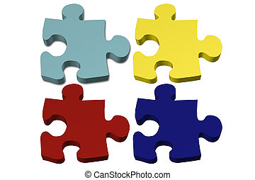 Blank Autism Puzzle pieces - Blank Colored Autism Puzzle...