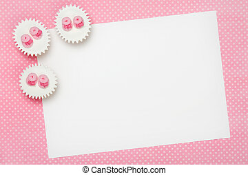 Blank baby shower invitation