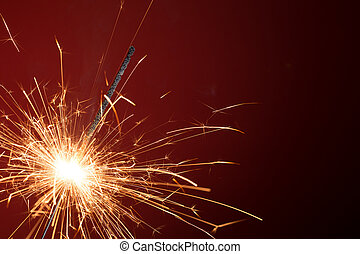 Blank background with christmas sparkler