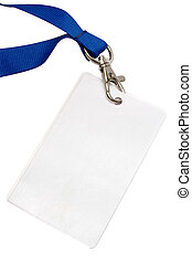 Blank backstage pass to put your own text on. File contains clipping path.