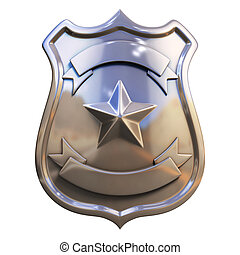 blank badge 3d illustration