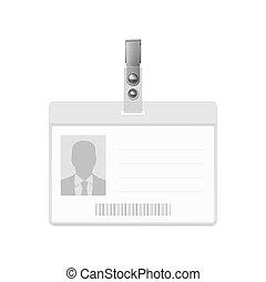 Blank badge. - Blank horizontal badge on white background....