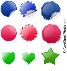 Blank Badge Button