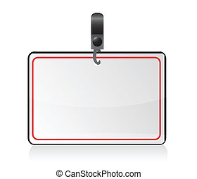 Blank badge (name tag) illustration design isolated over a...