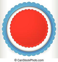 Blank badge, rosette, cockade icon. Award, prize shape