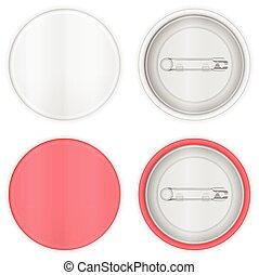 Blank badge set