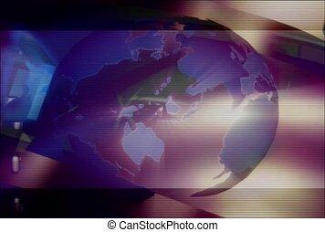 Blank Badge Spinning Around The World