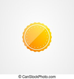 Blank badge vector design template