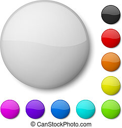 Blank badge vector template