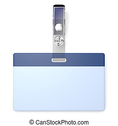 Blank badge with copyspace - 3D realistic render with blank ...