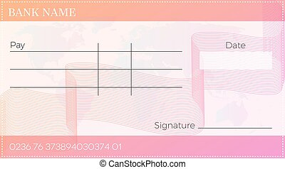 blank bank cheque - Blank bank cheque . Empty vector pay...