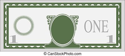Blank bank note color