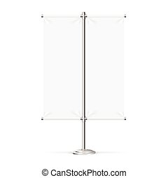 Blank Banner Flag. Vector